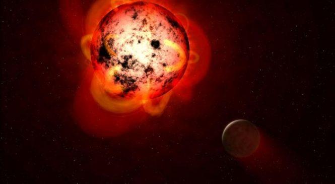 Radio telescope measures aurorae in distant planetary system