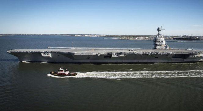 Raytheon awarded $17 million for dual band radar spares for USS Ford