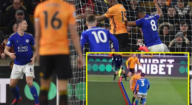 Ten-man Leicester get draw at Wolves as marginal VAR call denies hosts victory