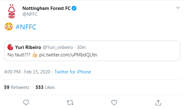 Forest were furious with Stroud