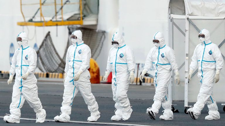 A quarantine worker is among the 39 who have been diagnosed with COVID-19 aboard the Diamond Princess