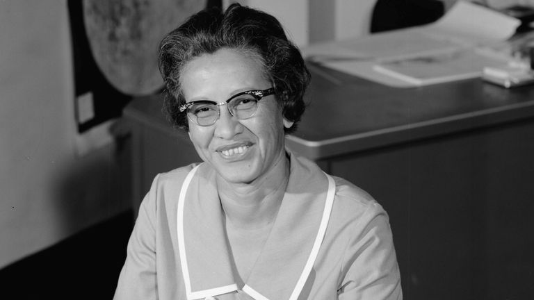 NASA research mathematician Katherine Johnson is photographed at her desk at Langley Research Center in Hampton, Virginia, U.S., in this image from 1966. NASA/Handout via REUTERS ATTENTION EDITORS - THIS IMAGE HAS BEEN SUPPLIED BY A THIRD PARTY.