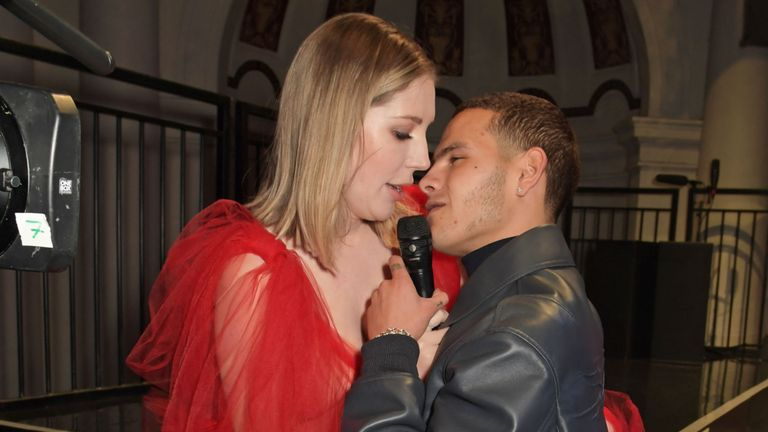 Katherine Ryan and Slowthai attend The NME Awards 2020 at the O2 Academy Brixton on February 12, 2020 in London, England