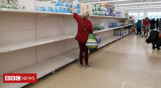 Coronavirus: Supermarkets ask shoppers to be 'considerate' and stop panic buying