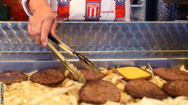 Burger van at Stoke City