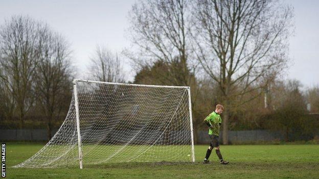 Goalkeeper playing in Sunday league football