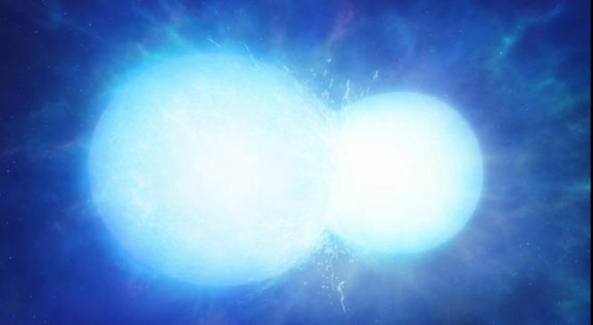 Massive white dwarf star is the product of a stellar merger