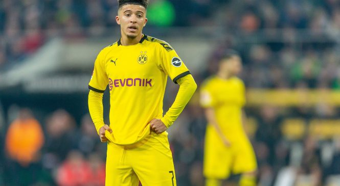 Manchester United 'talking' to Jadon Sancho's agent but Borussia Dortmund want at least £97million for winger