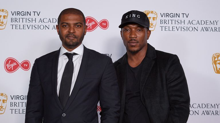 Noel Clarke and Ashley Walters at the Virgin TV British Academy Television Awards at The Royal Festival Hall on May 13, 2018 in London