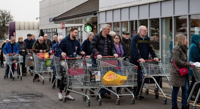 Stockpiling spree hit £1.9bn ahead of virus lockdown
