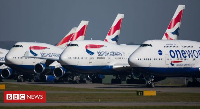 British Airways to cut up to 12,000 jobs as air travel collapses