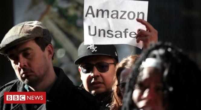 Coronavirus: 'Not smart' memo shows Amazon's union stance