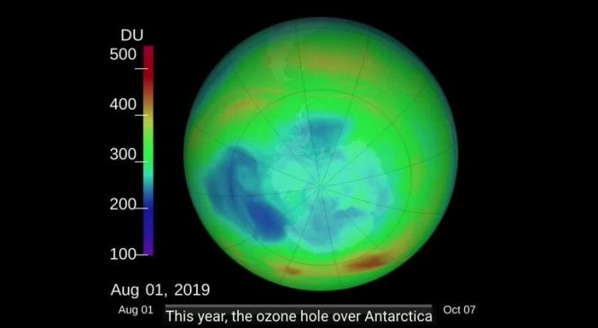 Record ozone hole disappears over the Arctic