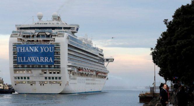 Coronavirus cruise ship finally leaves Australian port