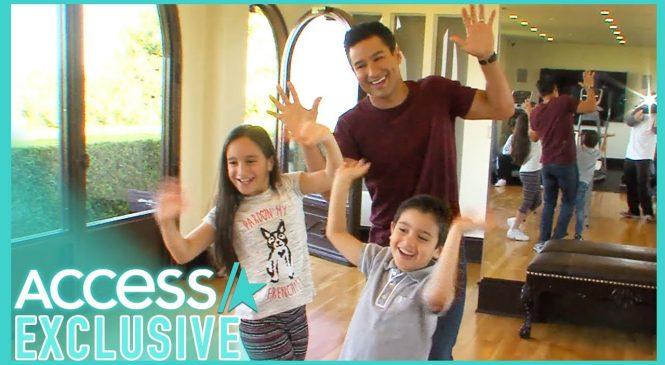 Mario Lopez teaches seniors to dance for TikTok video