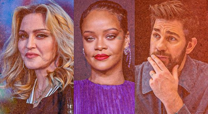 The celebrities striking the right note by spreading comfort and joy