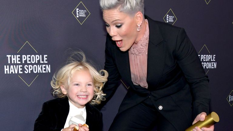 Pink and Jameson at an awards show in November