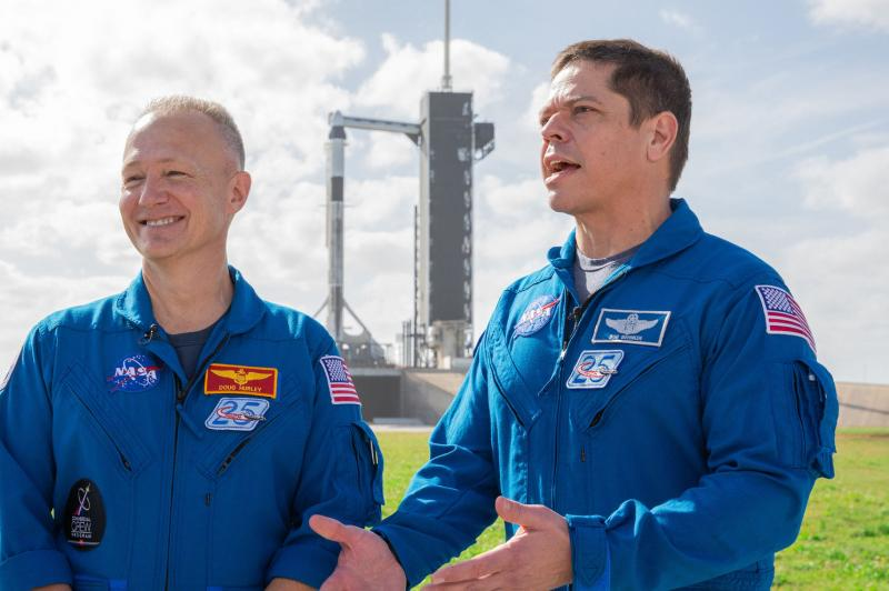 Astronauts anticipate first crewed launch from U.S. soil in nine years