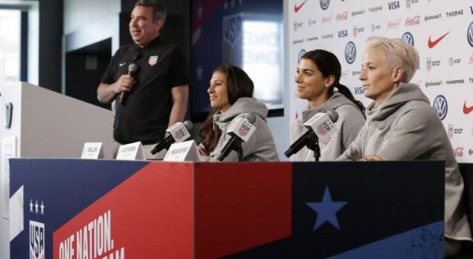 Judge dismisses U.S. women's soccer team's claim of unequal pay
