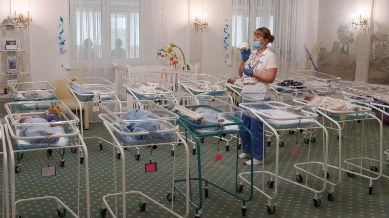 Surrogate trade exposed as pandemic leaves 51 babies stranded in Kiev hotel
