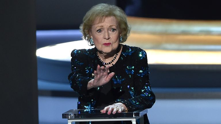 Betty White speaks onstage during the 70th Emmy Awards at the Microsoft Theatre in Los Angeles, California on September 17, 2018.
