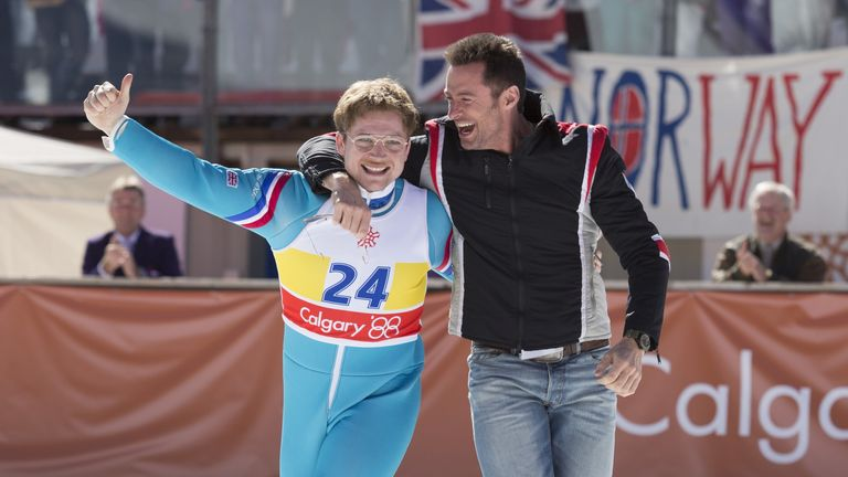 Taron Egerton as Eddie The Eagle. Pic: Lionsgate