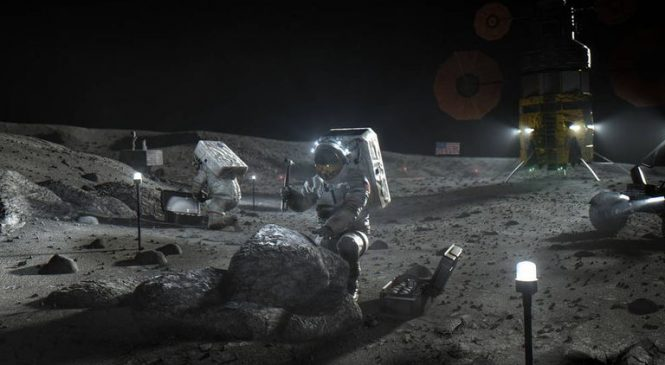 Bezos and Musk compete to build lunar lander for moon mission