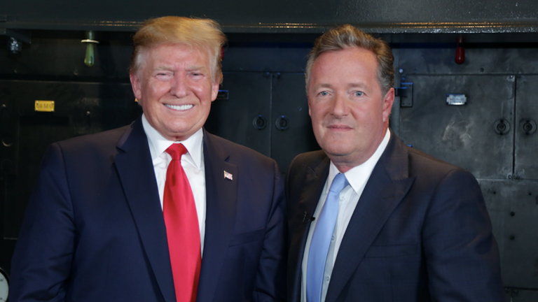 Donald Trump was speaking to Piers Morgan