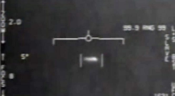 US military jet had encounter with 'silver UFO the size of suitcase'