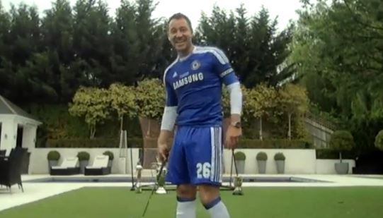 John Terry wore his full kit for Sky's new programme called Redknapp's Home Fixture