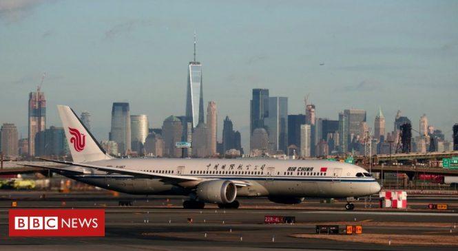 US to ban passenger flights from China