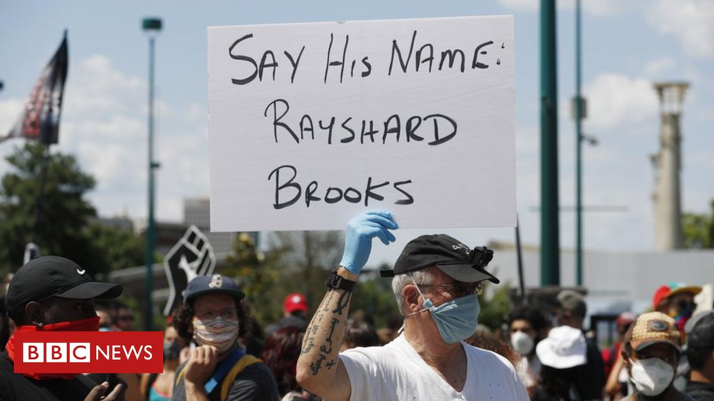 Protests in Atlanta over police shooting of Rayshard Brooks