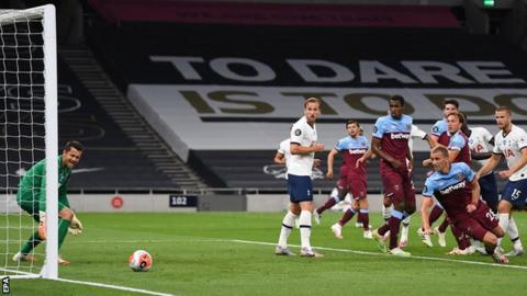 Tottenham 2-0 West Ham: Harry Kane on target after Tomas Soucek own goal