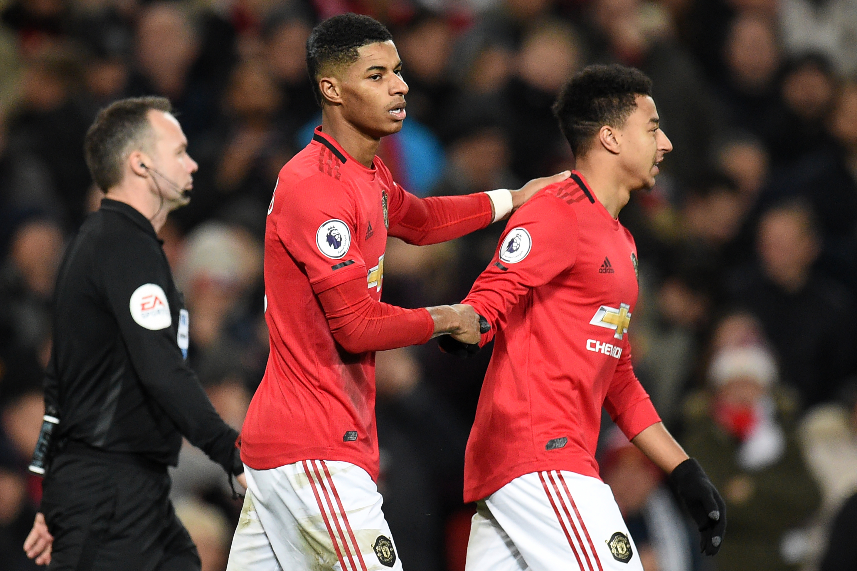 Marcus Rashford scored twice as Man United beat Spurs in December