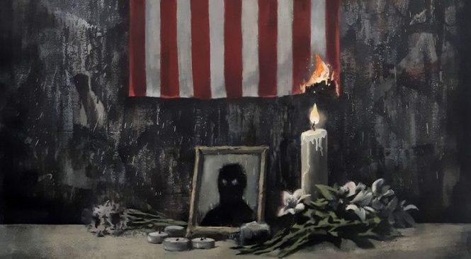 Six arrested over Banksy artwork stolen from Paris concert hall