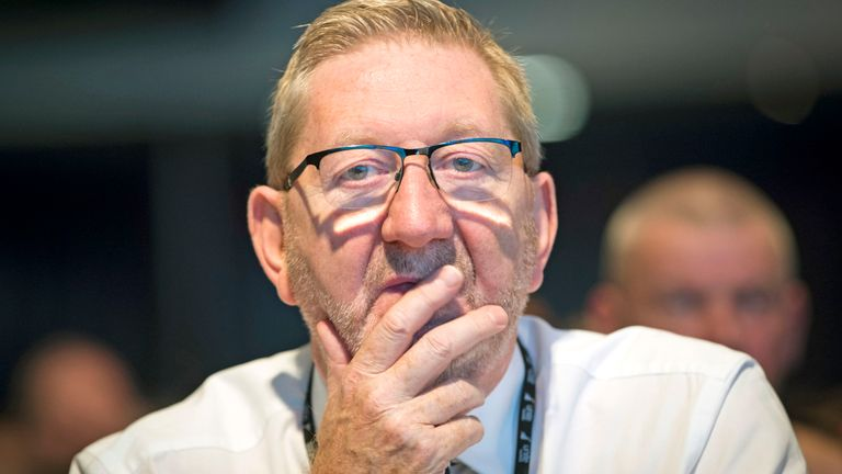 Unite General Secretary Len McCluskey during the TUC Congress in Manchester