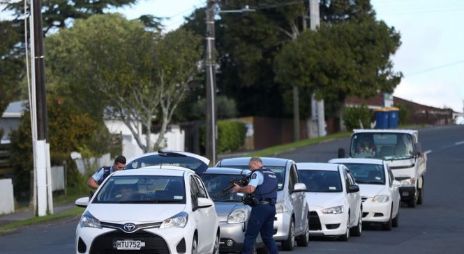 Suspect on run after NZ police officer shot and killed during routine traffic stop