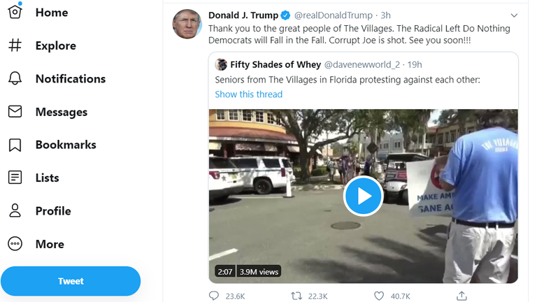 The President promoted the video featuring the racist slogan