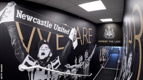 Newcastle United tunnel