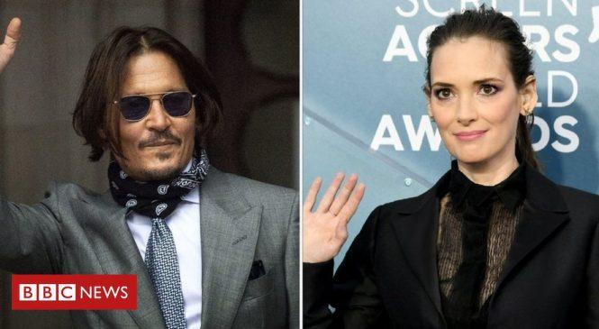 Johnny Depp was never violent to me, says ex-partner Winona Ryder