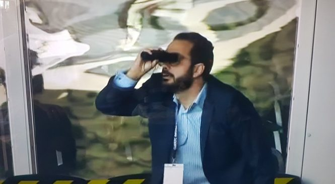 Leeds director of football Victor Orta mocks Derby 'Spygate' with binoculars celebration after win at Pride Park
