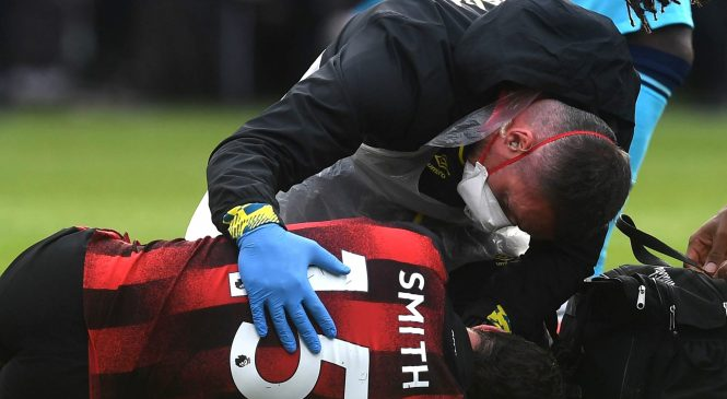 Eddie Howe gives update on Adam Smith after Bournemouth defender was stretchered off with head injury against Tottenham