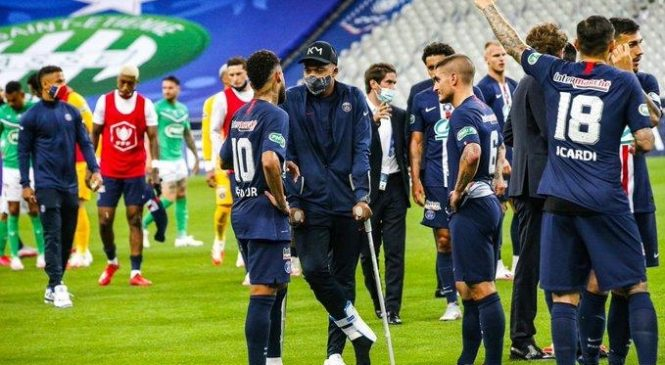 Watch: PSG star Kylian Mbappe suffers ankle injury in French Cup final