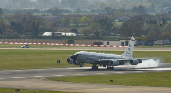 Russian Defense Ministry reports interception of U.S. spy plane