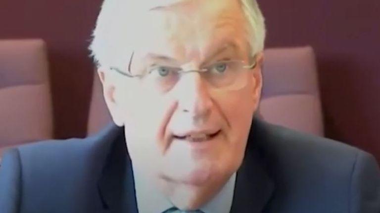 Michel Barnier says the UK 'keeps on backtracking'
