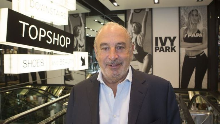 Sir Philip Green at the launch of Beyonce's Ivy Park fashion range at Topshop in London. Mandatory Credit: Pic: Shutterstock