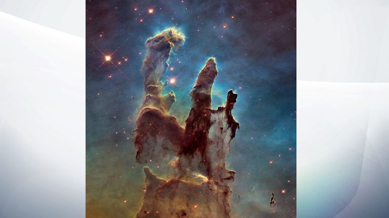 One of the most famous Hubble pictures is the Pillars of Creation