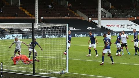 Fulham against Brentford in June