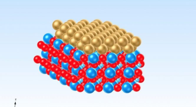 A bit of gold grants crystals new electric properties