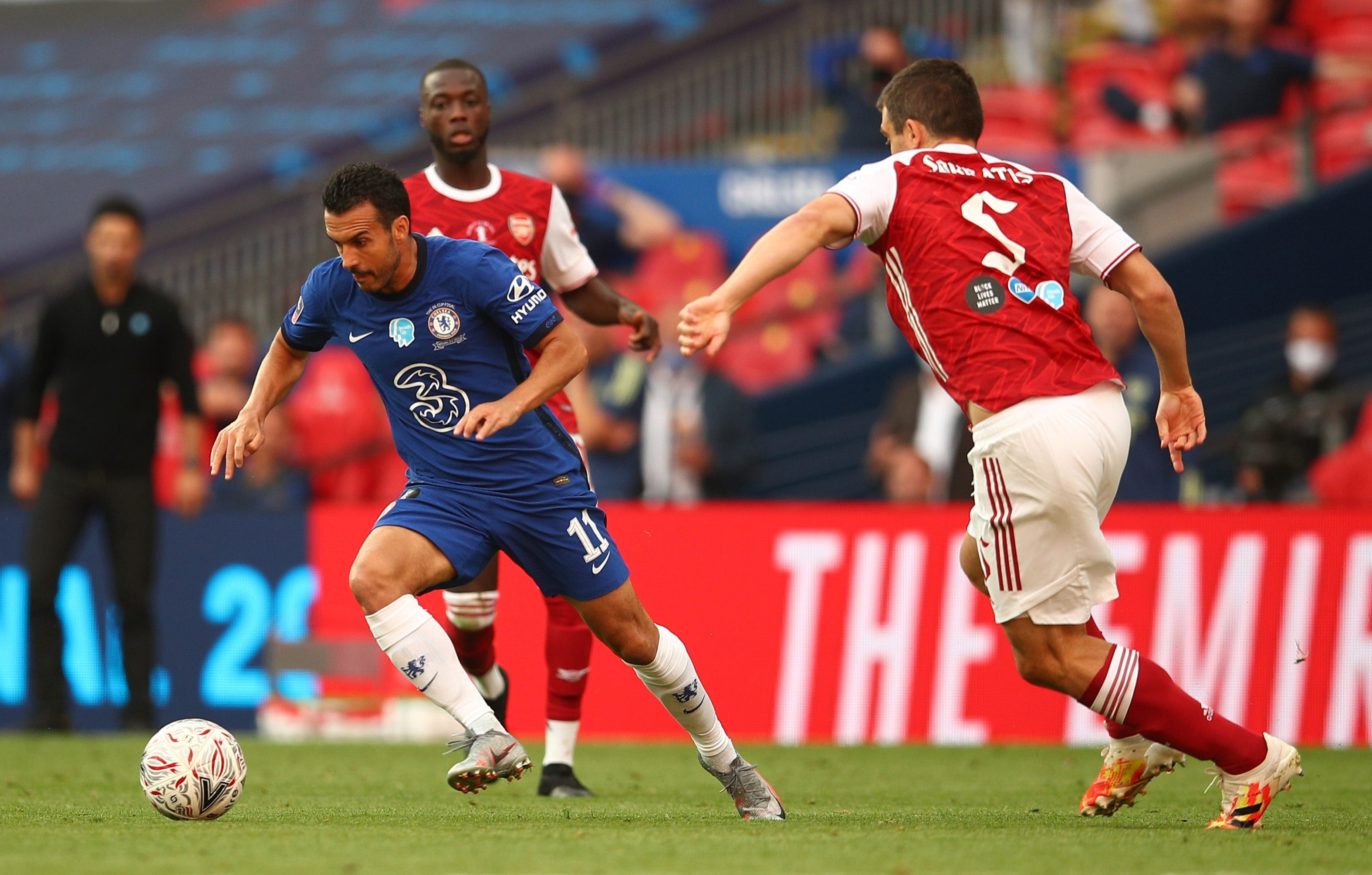 Pedro was brought on in the second half to replace the injured Christian Pulisic